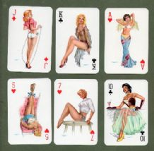 Vintage Pin-up vintage playing cards Darling pinup art